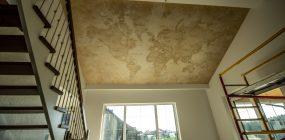 Ceiling painting 520×310cm. Lubų tapyba