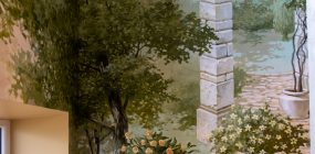 Landscape wall painting